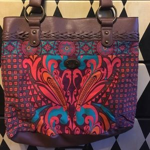 Large Karma Shoulder Bag / Purse w/ Boho Print